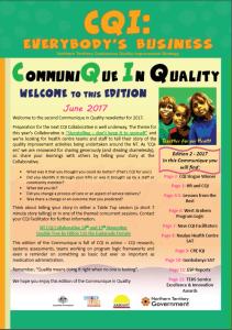 Communique Edition 2 2017 Front Page picture